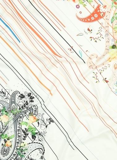 Beymen Studio Studio 101109821001 90 X 90 Cm Polyester Desenli Renkli Kadın Eşarp Renkli